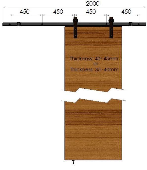 The Rustic Barn Door Set Richelieu Hardware