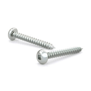 Zinc Plated Metal Screw, Pan Head, Square Drive, Self-Tapping Thread, Type A Point