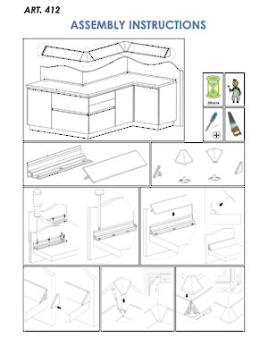 Instructions for installation with screws