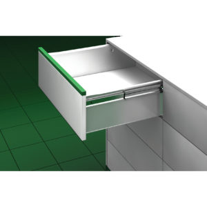 Drawer and metal side