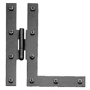 Offset HL Rustic Surface Hinge in Forged Iron - 092