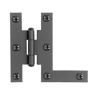 Rustic Surface Hinge in Forged Iron - 091