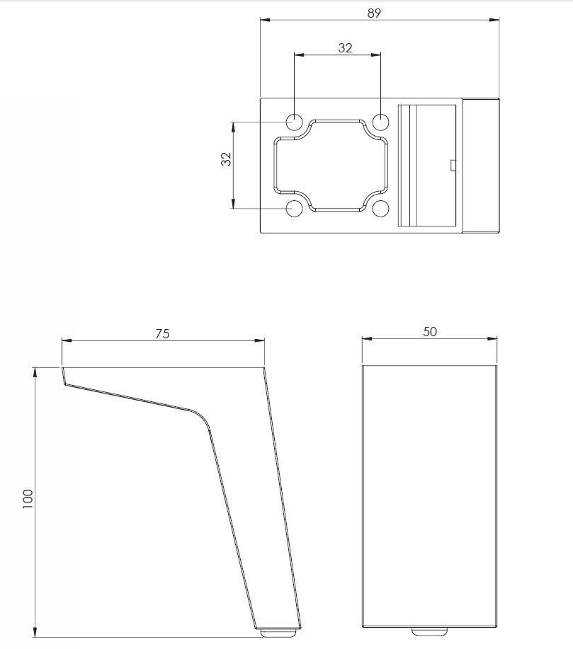 patte de meuble design 2111 quincaillerie richelieu. Black Bedroom Furniture Sets. Home Design Ideas