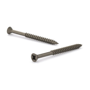 Plain Wood Screw, Flat Head, Quadrex Drive, Coarse Thread, Regular Wood Point