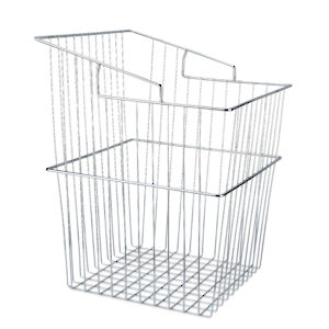 Chrome Tilt Hamper Basket