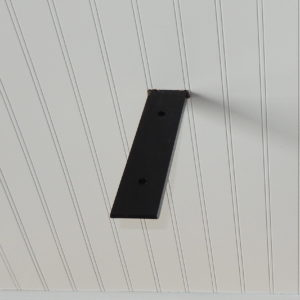 Concealed Black Flat Bracket - Steel