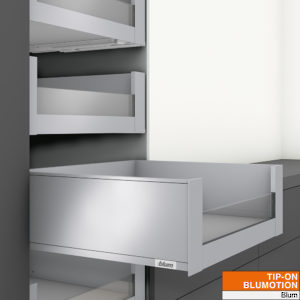C Height Inner Drawer with 1/2 Height Insert - TIP-ON BLUMOTION