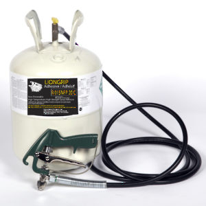LIONGRIP Promotional Kit - R015NF Contact Adhesive, 12-ft Tube, and Spray Gun