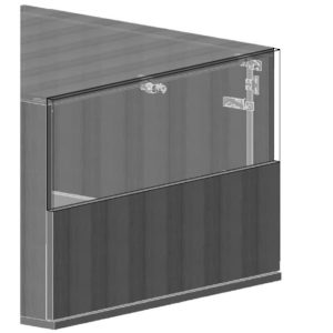 Central Locking Device Set--2 Drawers