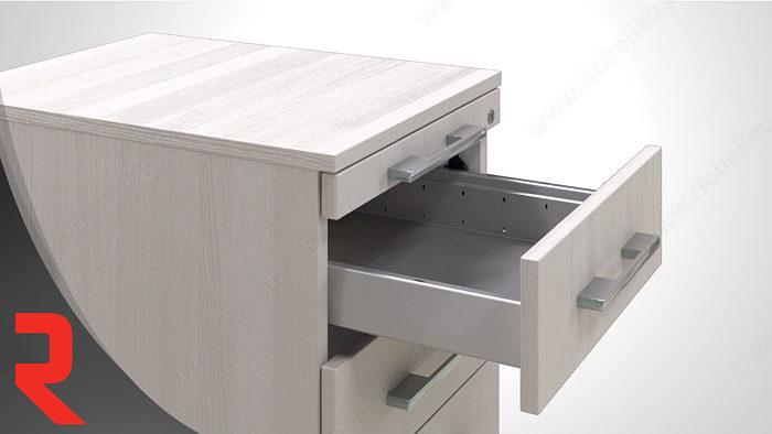 Ensemble de verrouillage centrale 2 tiroirs for Meuble quincaillerie tiroirs