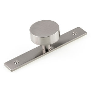Contemporary Metal Wardrobe Knob and Backplate