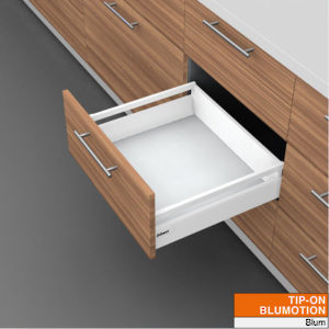 Drawer with Tubes - Height B (160 mm) for Tip-On Blumotion