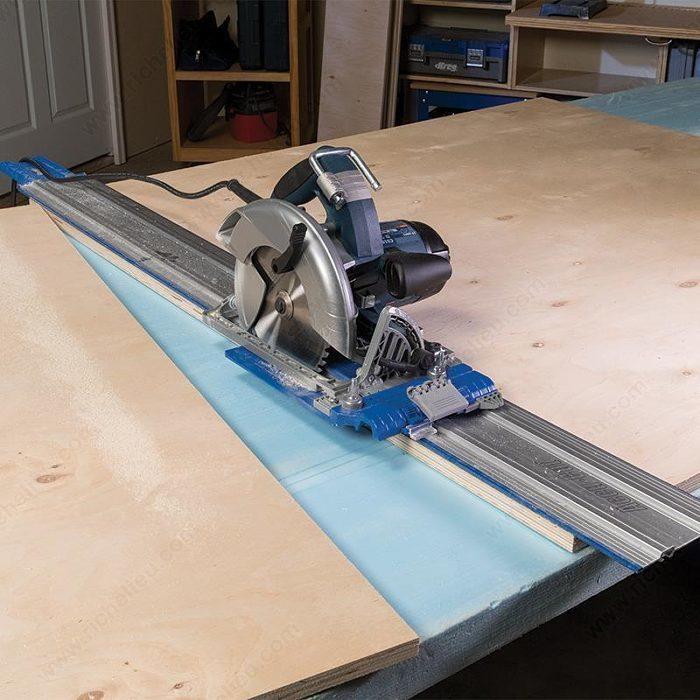 syst me de guide sur rail pour scie circulaire quincaillerie richelieu. Black Bedroom Furniture Sets. Home Design Ideas