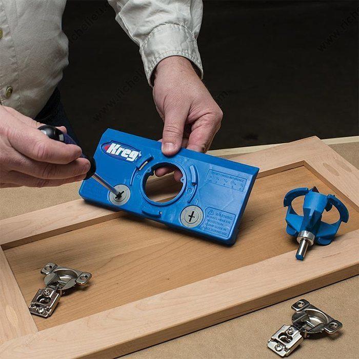 Réglable Dissimulé Charnière Drilling Jig pour européen 35 mm charnières de meuble