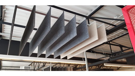 Suspended Duotex Panels