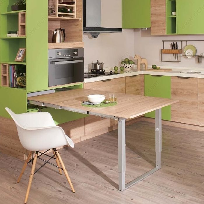 Kitchen Table Door: PARTY Sliding Table Mechanism For Drawer