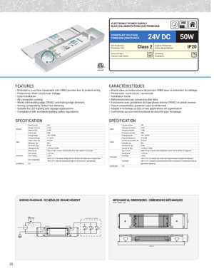 Technical Datasheet 50 W