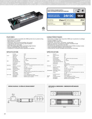 Technical Datasheet 96 W