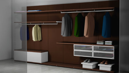 Charmant Attached To An Existing Wall, The Components Can Be Used In Any Combination  To Create: U2022 A Walk In Closet In A Bedroom U2022 Shelving In A Home Office