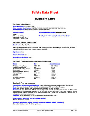 Safety Datasheet