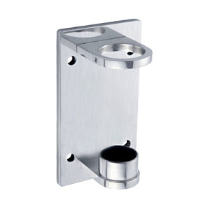Rectangular Fascia Mount Bracket for Round Baluster Post