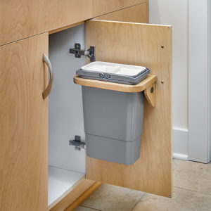 Door Mounted Garbage for Vanity