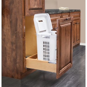 Pull-Out Wood Hamper