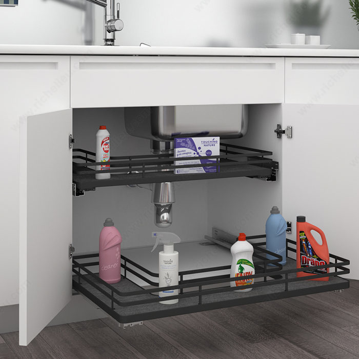 Kitchen Cabinet Accessories Pull Out: Pull-Out U-Shaped Under-Sink Basket