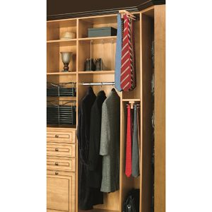 Top Mount Wooden Tie Rack