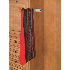 Side Mount Wooden Tie Rack