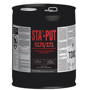 STA'-PUT S170 Non-Flammable Adhesive