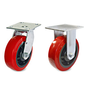 Mold-On Polyurethane Industrial Casters with Plate