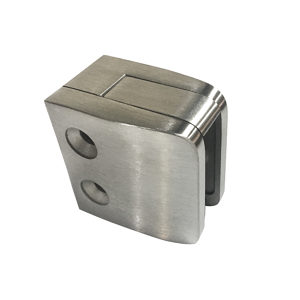 Square Glass Clamp - Flat Post Mount - Model 505