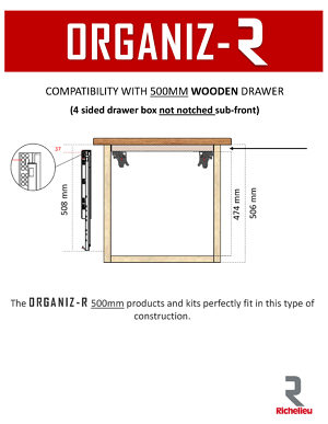 Compatible with Frameless Wood Drawers