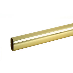 Oval Polished Brass Rod
