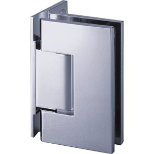 90° Glass-to-Wall Hinge with Offset Back Plate - Square Compact