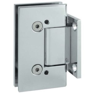 90° Glass-to-Wall Hinge with Short Back Plate - Square Heavy Duty