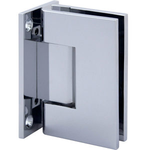 90° Glass-to-Wall Hinge with Full Back Plate - Square Series