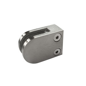 Round Glass Clamp - Flat Post Mount - Model 508