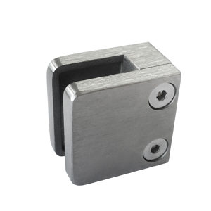 Square Glass Clamp - Flat Post Mount - Model 524