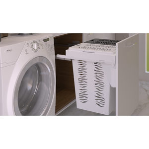 Sliding Hamper Basket for Frameless Cabinet
