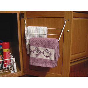 White Wire Towel Rack