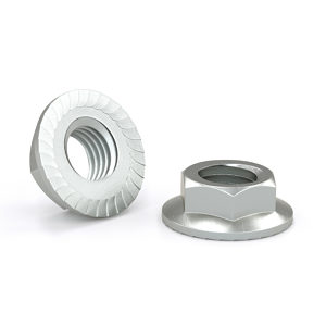 Hexagonal Serrated Flange Nut - Zinc