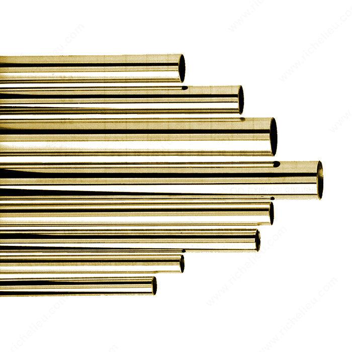 tube d coratif en laiton massif quincaillerie richelieu. Black Bedroom Furniture Sets. Home Design Ideas