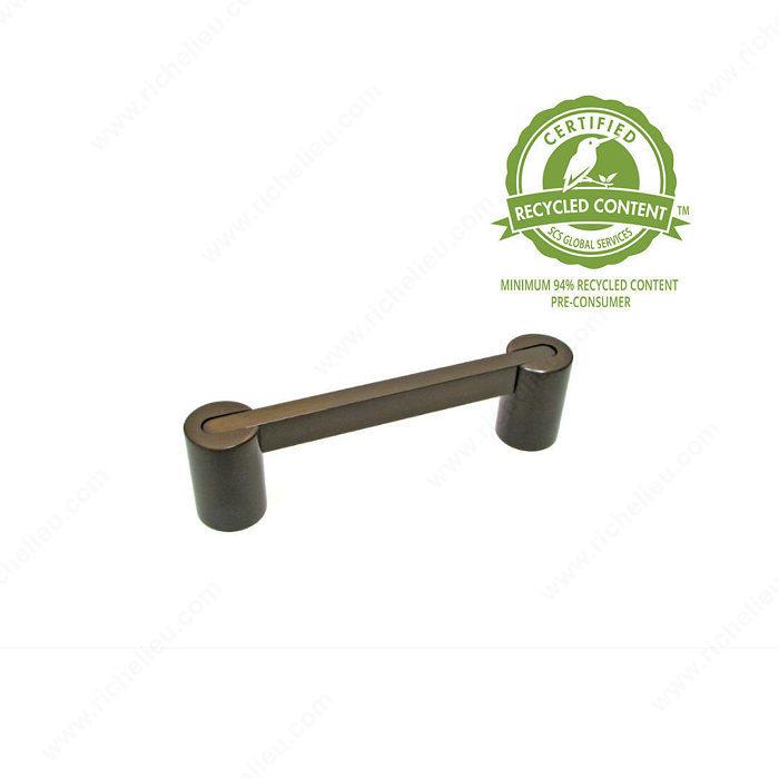 contemporary brass pull 1019 richelieu hardware. Black Bedroom Furniture Sets. Home Design Ideas