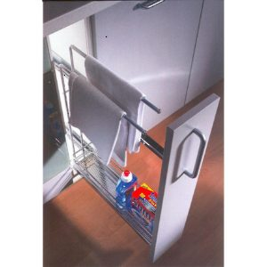 Sliding Basket with Towel Rack