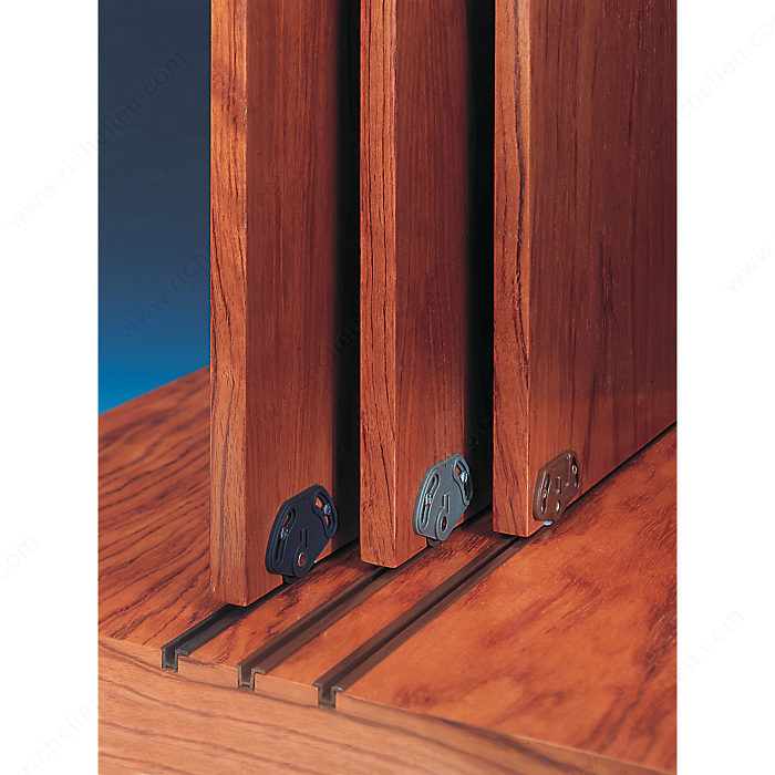 Brown pvc track richelieu hardware - Cabinet sliding door tracks and rollers ...