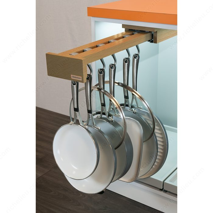 Pot racks with blum slides richelieu hardware - Cabinet pull out pot rack ...