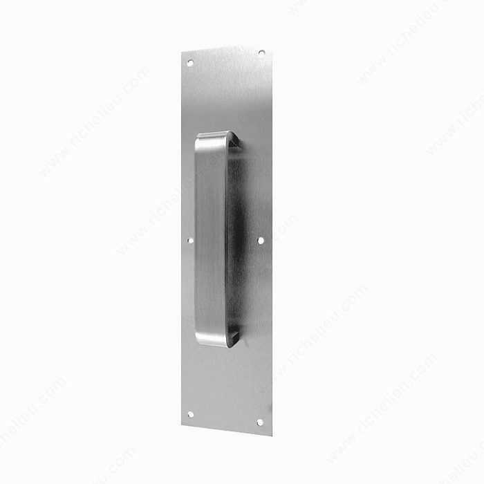 aluminum door pull and plate richelieu hardware
