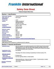 US & Canadian Material Safety Data